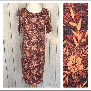 Lularoe Julia Womens Size M Floral Pattern Dress